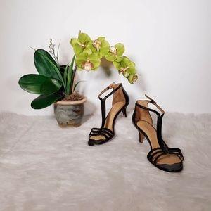 Nine West Shoes Women Size 8.5 Kitten Heels Snakes